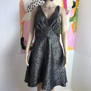 Eva Franco lace print fit and flare dress 8